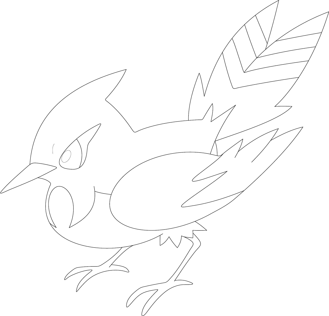 fletchinder coloring page free coloring pages