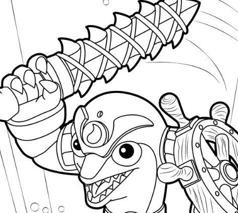 Flip Wreck Skylanders Coloring Page