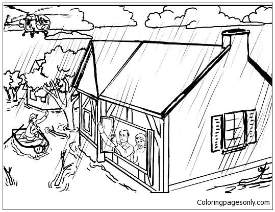 Flood  Coloring Page