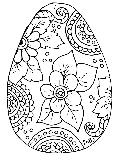 Floral And Paisley Easter Egg