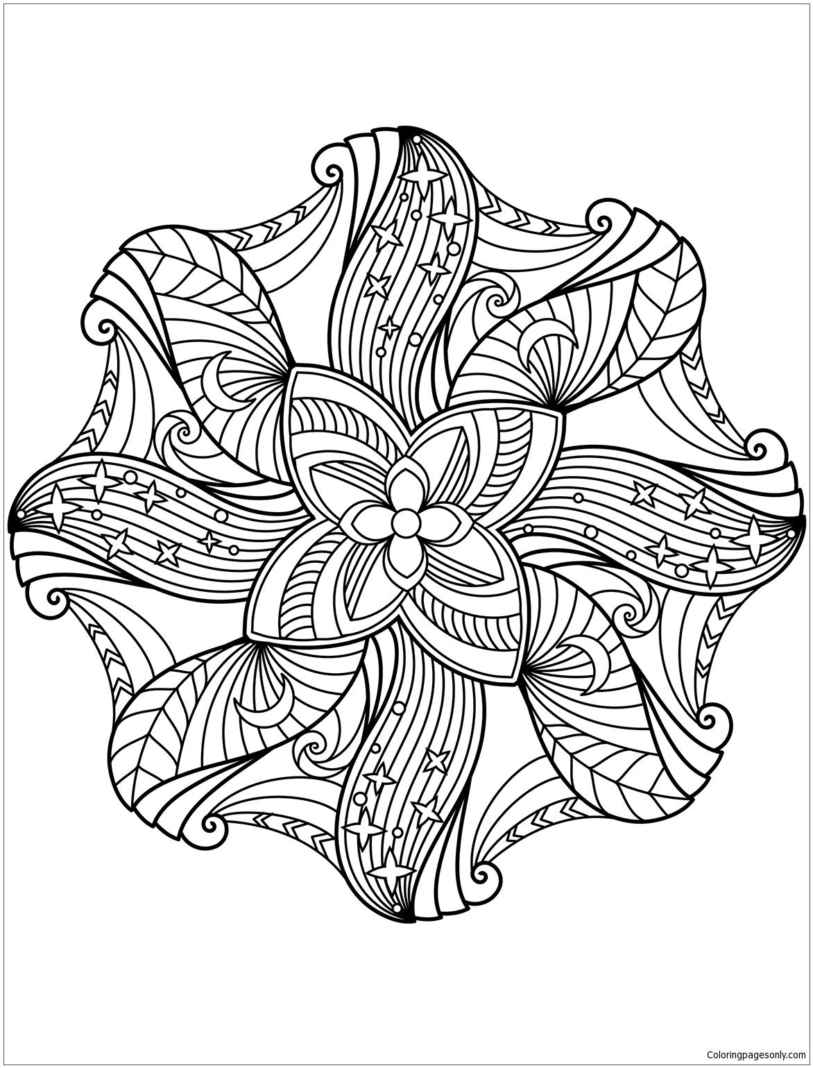 Floral Mandalas Coloring Page