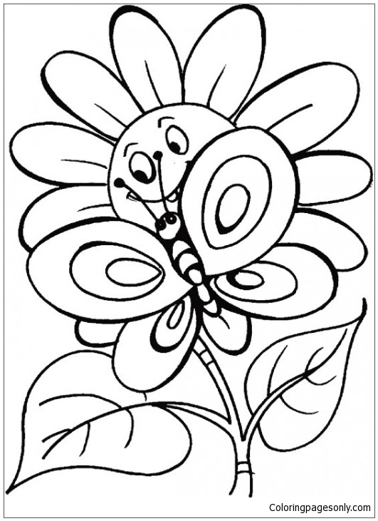 Free Printable Butterfly Coloring Pages For Kids   731x531