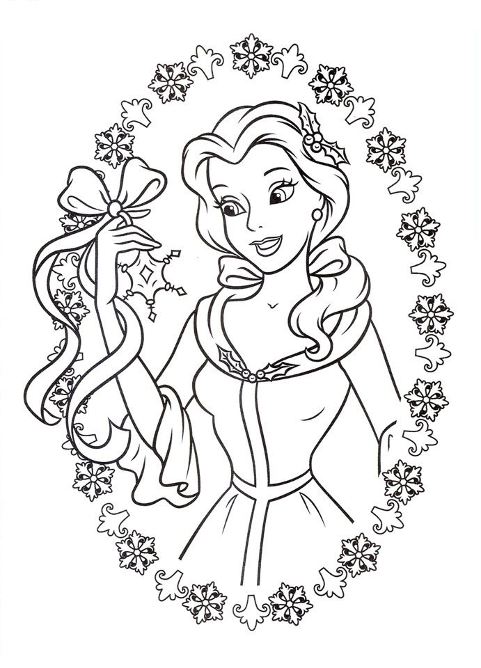 Flower Belle Coloring Page