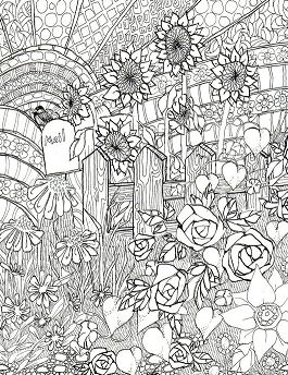 Flower Garden Front Of The Home Coloring Page