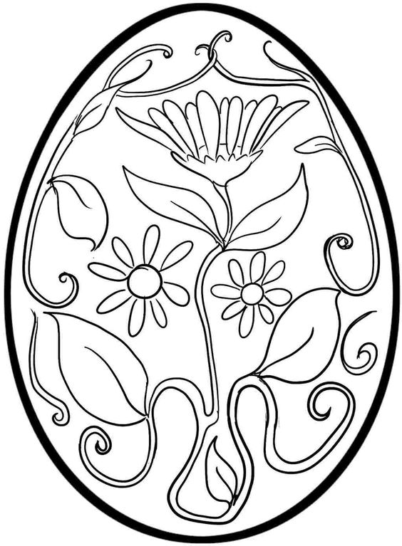 Flower Pattern Easter Egg