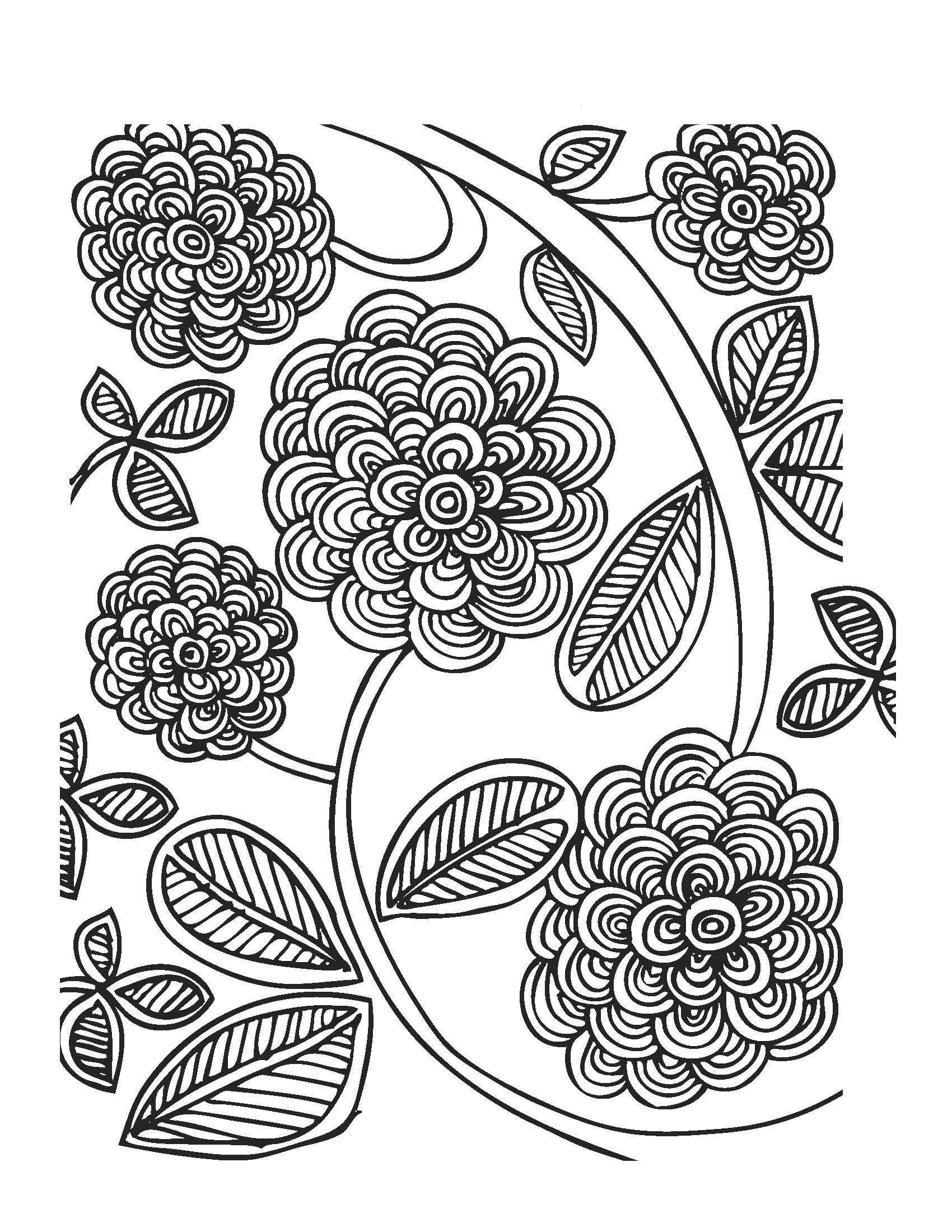 Flower Spring Coloring Page
