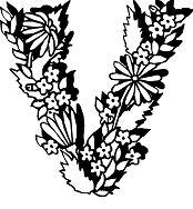 Flowers Letter V