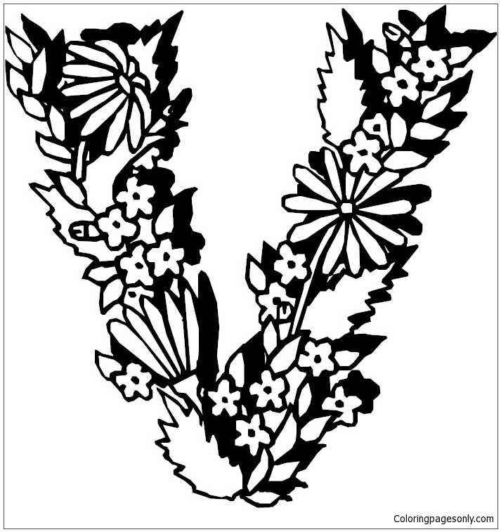 Top 10 Free Printable Letter V Coloring Pages Online | 757x713