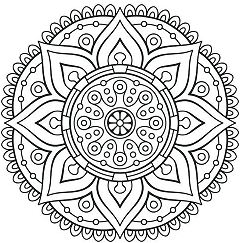 Flowers Mandala 1