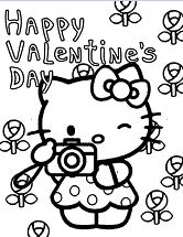 Flowers Valentines And Hello Kitty
