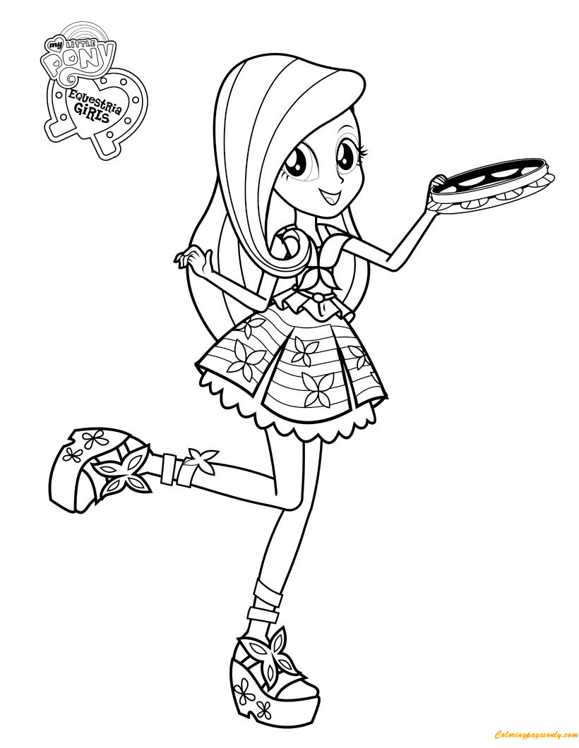 Fluttershy From My Little Pony Coloring Pages