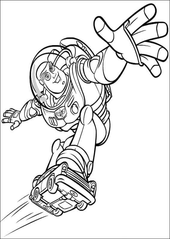 Flying Buzz Lightyear Coloring Page