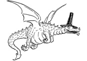 Flying Dragon with Funny Hat