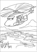Helicopter from Disney Cars Coloring Page