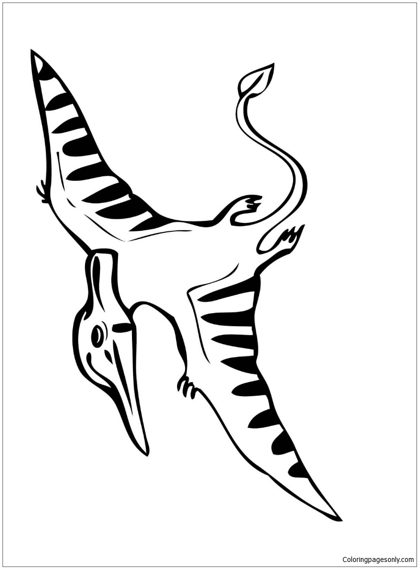 Flying Pteranodon Coloring Page