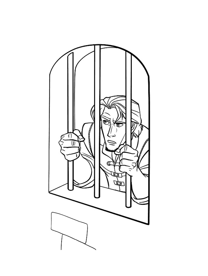 Flynn is a prisoner Coloring Page