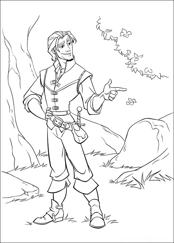 Flynn is pointing something Coloring Page
