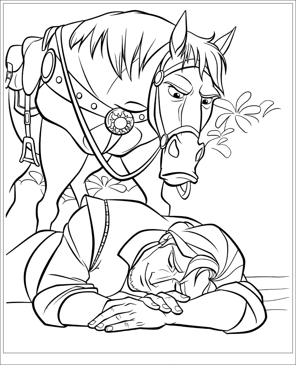 Flynn is sleeping Coloring Page
