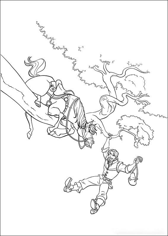 Flynn saves Maximus Coloring Page