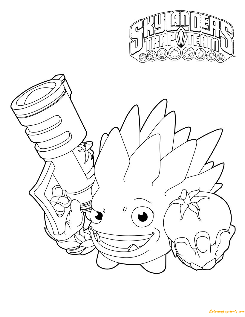 Food Fight Coloring Page