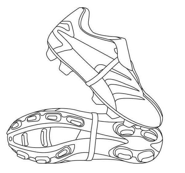 Football Boot Coloring Page