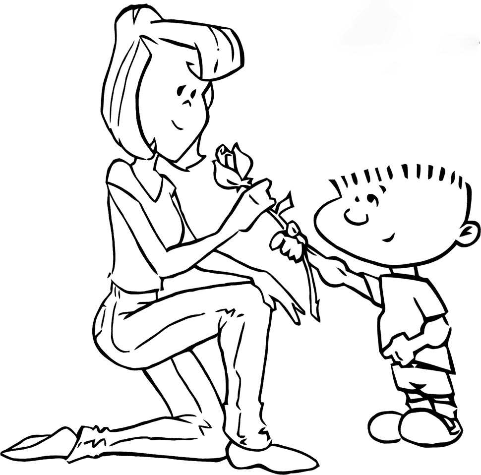 For Mommy Coloring Page