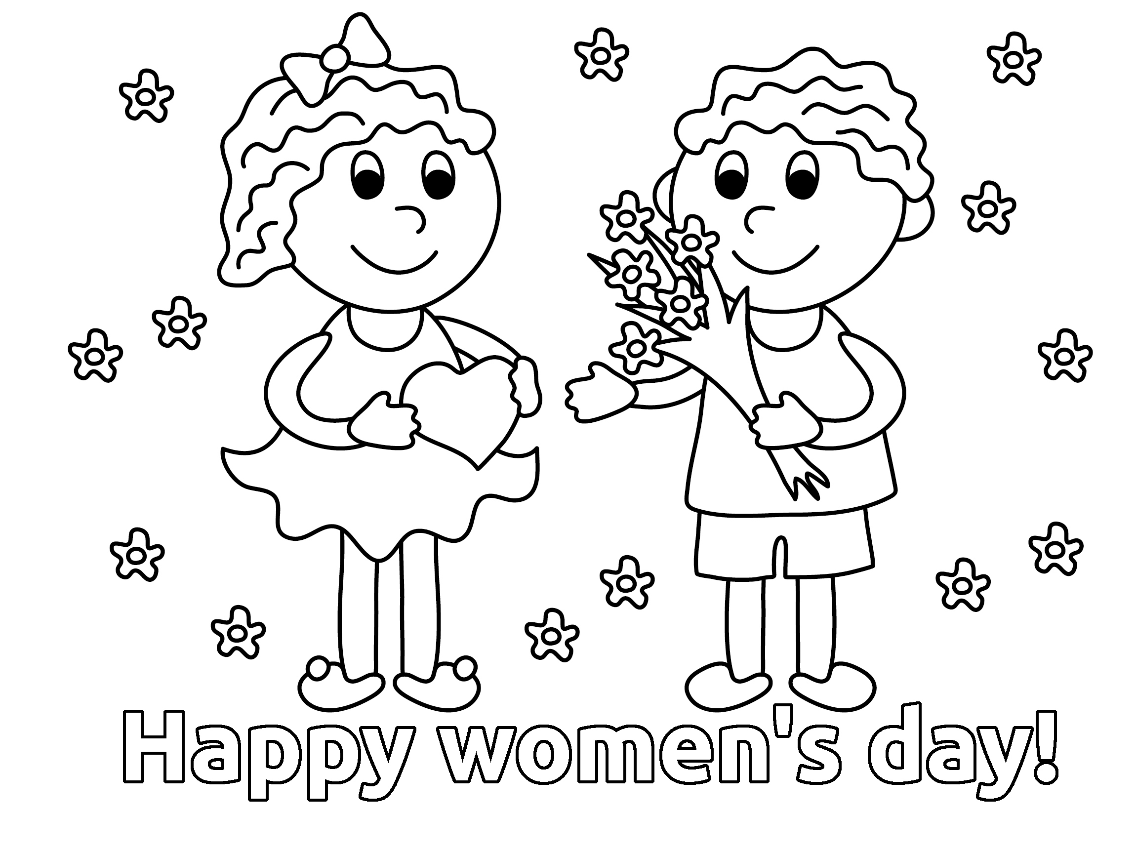 For Woman Coloring Page