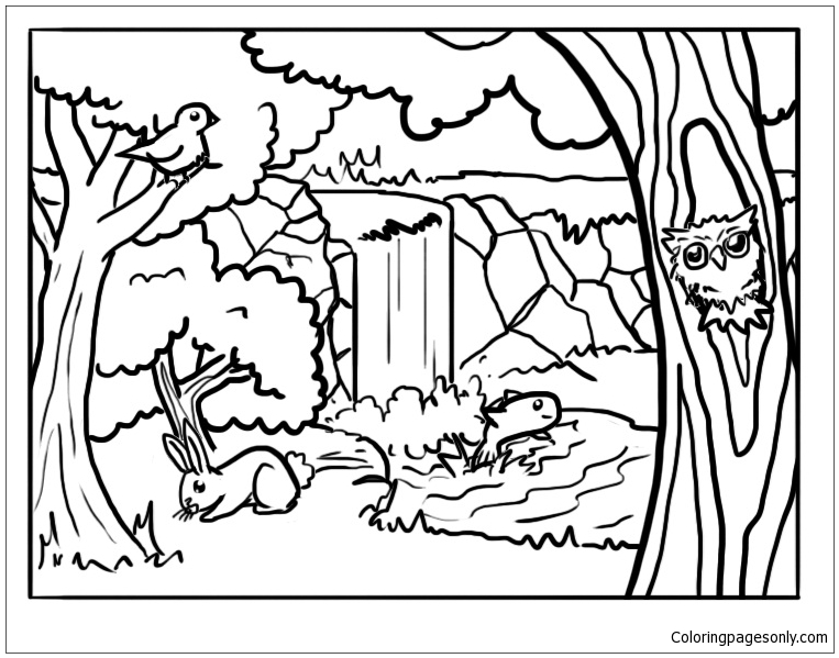 forest animals 2 coloring page free coloring pages online. Black Bedroom Furniture Sets. Home Design Ideas