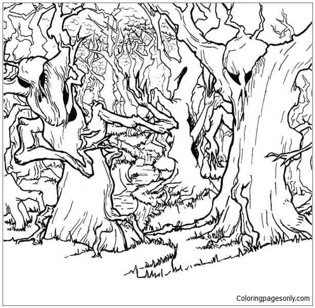 Forest Animals 4 Coloring Page