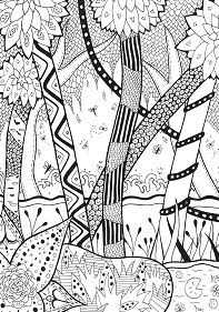 Forest Rachel Coloring Page