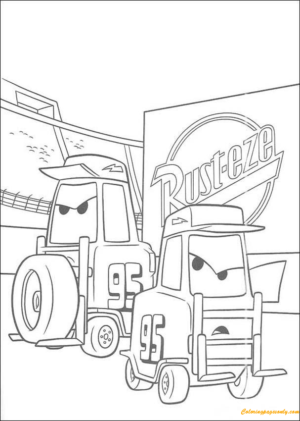 Forklifts Coloring Page