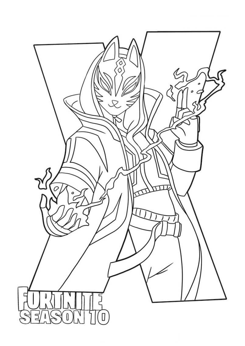 Fortnite Drift in Season 10 Coloring Page