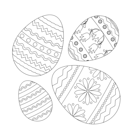 Easter Eggs Coloring Pages Coloringpagesonly Com