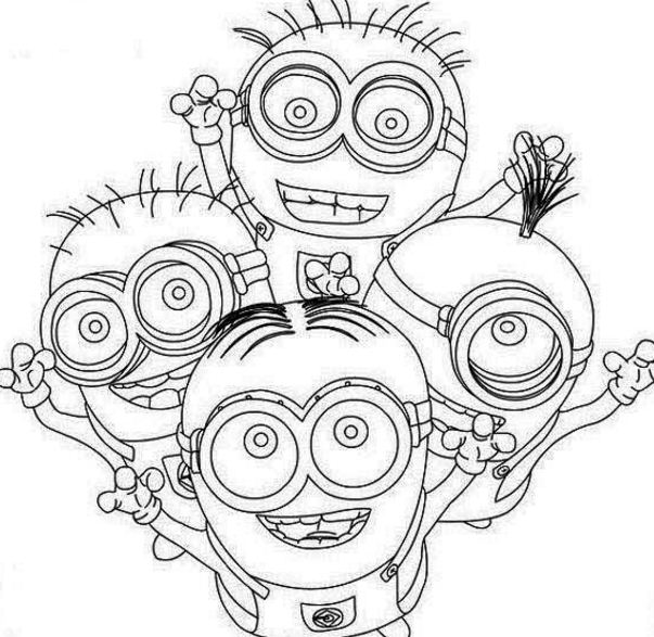 Four Happy Minion