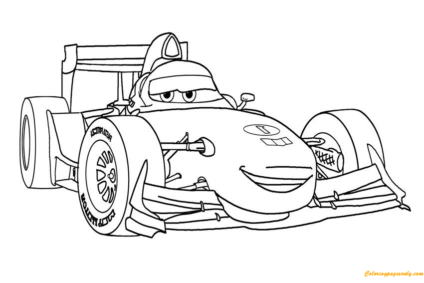 Francesco Disney Cars Coloring Page