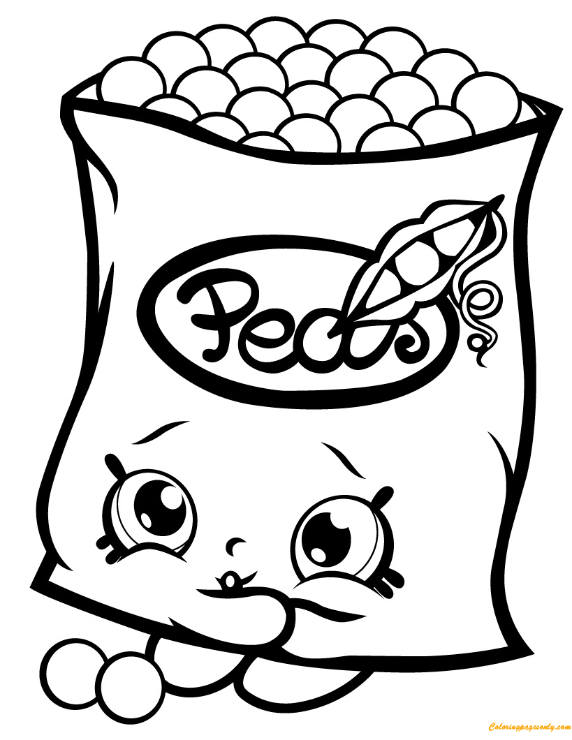 Freezy Peazy Shopkin Season 1 Coloring Page - Free Coloring Pages Online