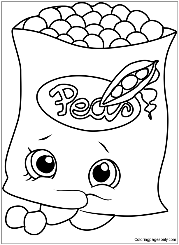 Freezy Peazy Shopkins Coloring Page Free Coloring Pages