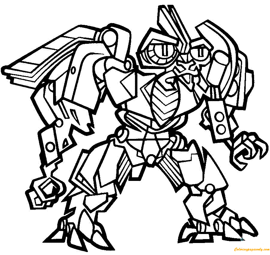frenzy transformers coloring page free coloring pages