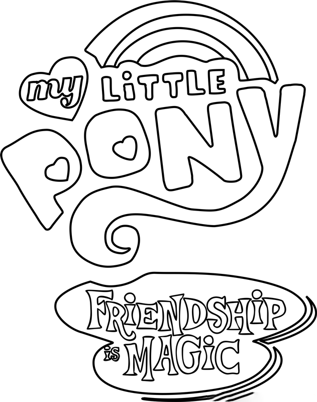 Friendship is magic Coloring Page