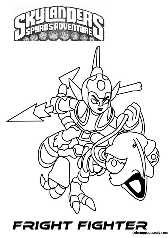 Fright Fighter Coloring Page
