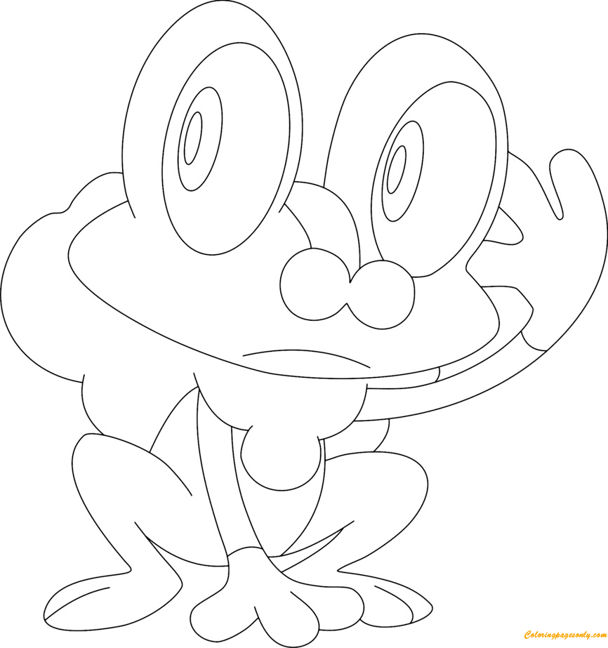froakie coloring page free coloring pages