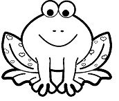 Frog Funny Coloring Page