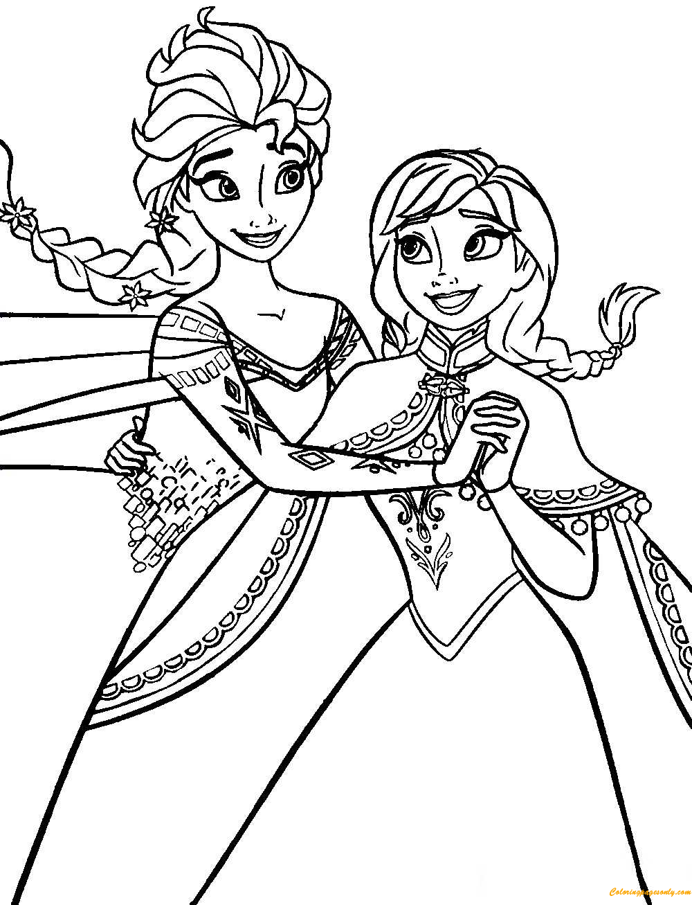 - Frozen Anna And Elsa Coloring Page - Free Coloring Pages Online