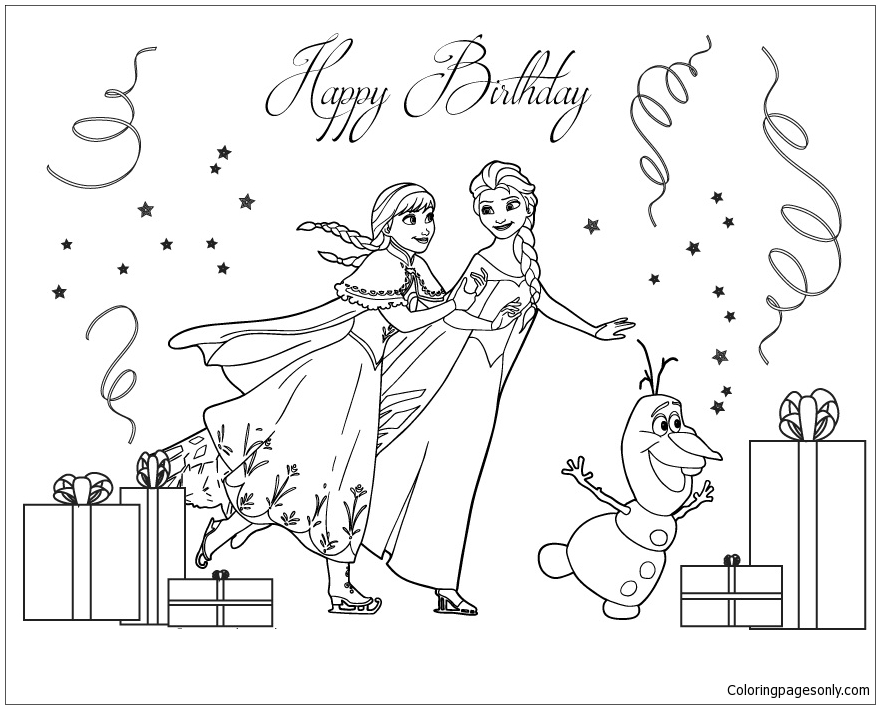 Frozen Cast Ice Skating Coloring Pages Cartoons Coloring Pages Free Printable Coloring Pages Online
