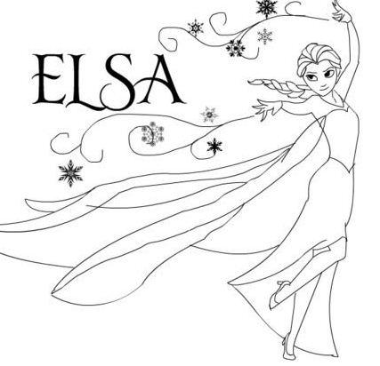 Frozen Elsa 1 Coloring Page