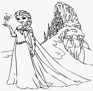 Related Coloring Pages Frozen Elsa