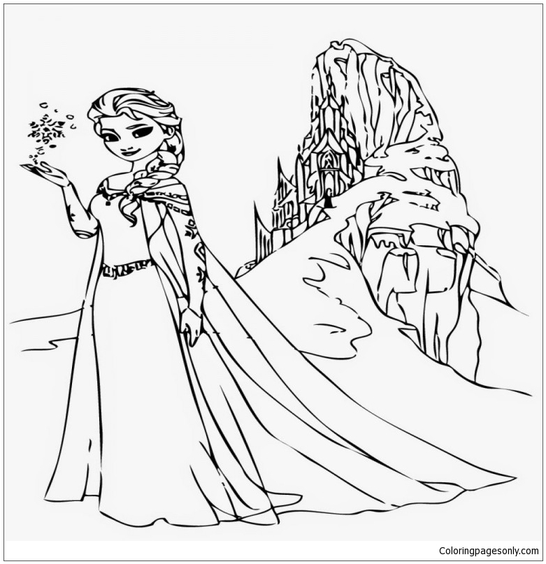 Royal Family Frozen 2 Coloring Pages Elsa - colouring mermaid