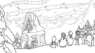 Frozen Northern Lights The Ice Castle Coloring Page