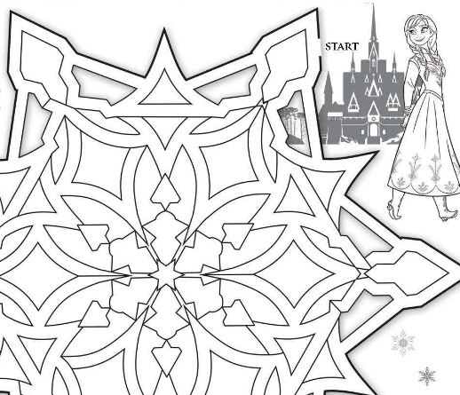 Frozen Playing Games Coloring Page