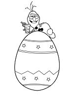 Frozen Snowman Olaf On Top Of Easter Egg